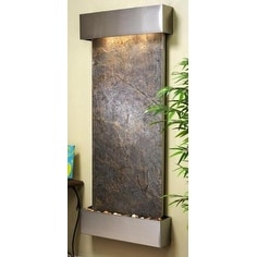 Adagio Inspiration Falls Wall Fountain Green FeatherStone Stainless Steel - IFS2