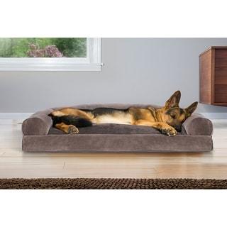 FurHaven Pet | Faux Fur & Velvet Pillow Sofa Dog Bed