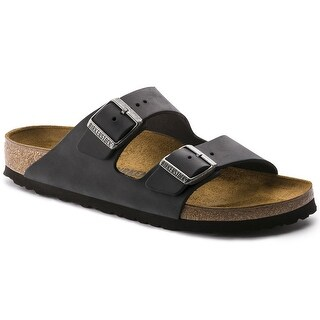 BIRKENSTOCK Arizona Black Oiled Leather Unisex Sandal 45 N (US Women's 14-14.5)
