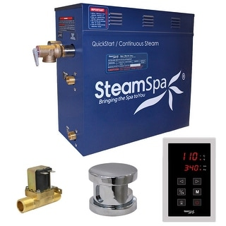SteamSpa OAT750-A  Oasis 7.5 KW QuickStart Acu-Steam Bath Generator Package with Built-in Auto Drain and Touch Controller