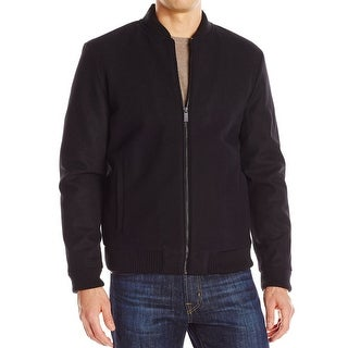 Calvin Klein NEW Black Mens Size XL Full Zip Wool Baseball Jacket