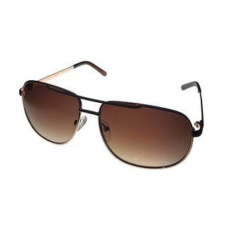 Kenneth Cole Reaction Mens Sunglass KC1276 32F Gold Metal Aviator Brown Lens - Medium