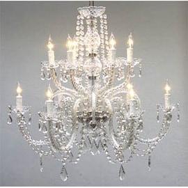 Gallery venetian style all crystal 12 light chandelier free crystal chandelier lighting h27 x w32 aloadofball Gallery
