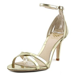 Vince Camuto Camron Women Open Toe Synthetic Gold Sandals