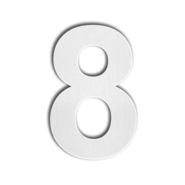 Number 0 Zero Floating Appearance and Easy to Install Made of Solid 304 Stainless Steel Black Brushed Modern House Number -125mm Height