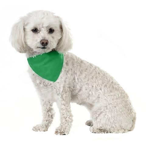 Jordefano Solid Cotton 5 Pack Dog Bandana Triangle Bibs - Small and Medium Pets - One Size