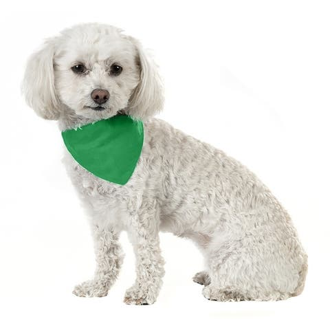 Mechaly Solid Cotton Dog Bandana Triangle Bibs - Small and Medium Pets - One Size Fits Most