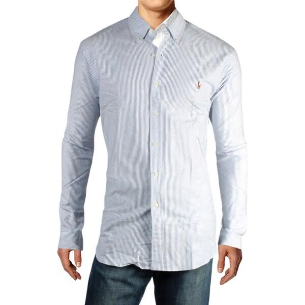 Ralph lauren mens slim fit button down shirt