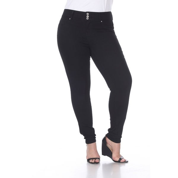 Plus Size Super Stretch Denim Jeans - Black