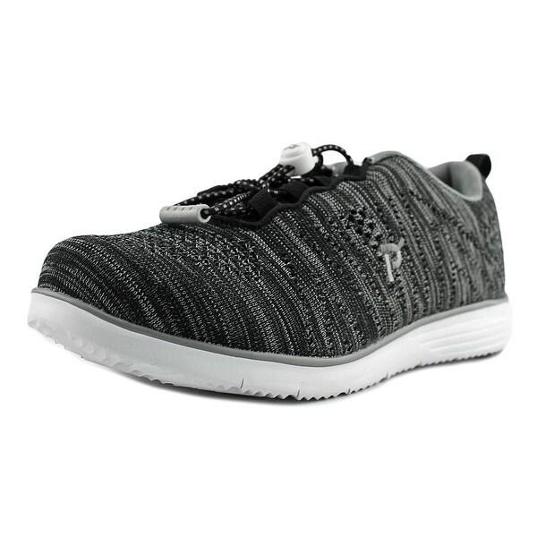 Propet Travelfit Women 2E Round Toe Synthetic Black Walking Shoe