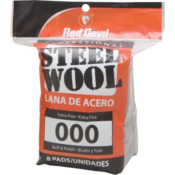 Red Devil 8Pk #000 Steel Wool