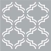 """Moroccan Tile - Americana Decor Stencil 18""""X18"""""""