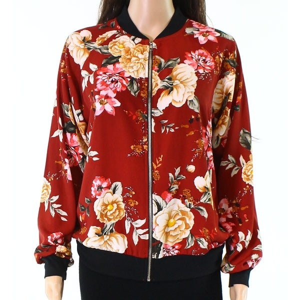 5cc45ee4282d Shop West Kei Women s Medium Floral-Print Bomber Jacket - Free Shipping On  Orders Over  45 - Overstock - 22027076