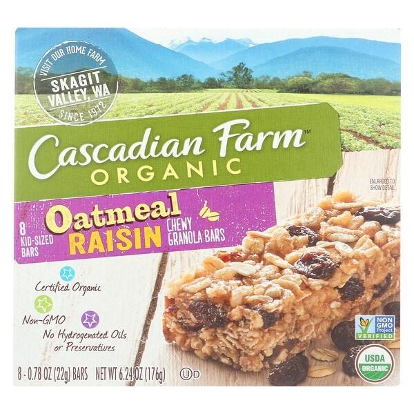 Cascadian Farm Organic Chewy Granola Bars - Oatmeal Raisin - Case of 12 - 6.24 oz.