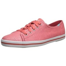 Keds Women's Rally Shimmer Fashion Sneaker, Coral
