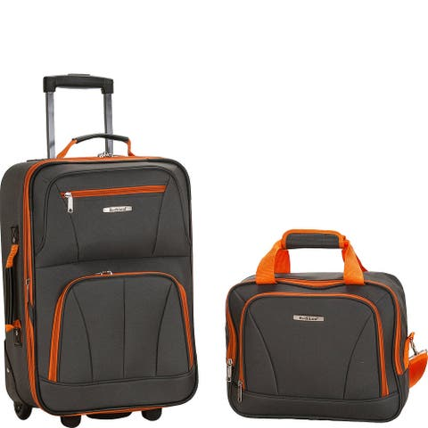 Rockland 2-Piece Carry-On Luggage Set