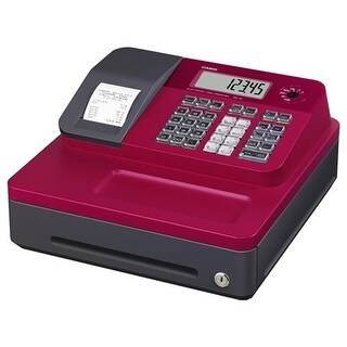 """Casio Thermal Print Cash Register - Red Cash Register"""