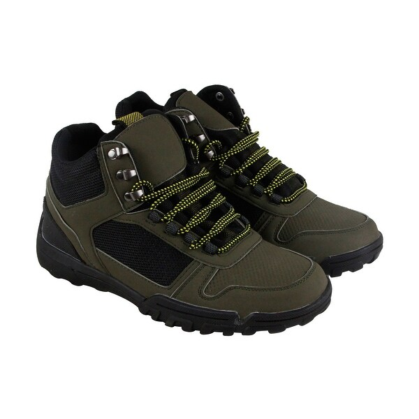 Steve Madden Mounted Mens Green Mesh & Synthetic Athletic Hiking Shoes