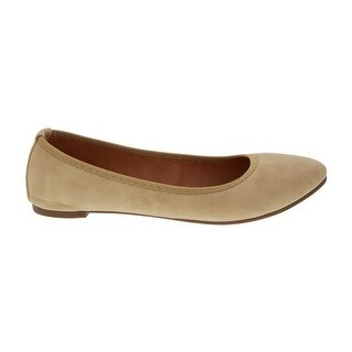Angelina Adult Nude Almond Toe Small Heel Platform Classic Flats (More options available)