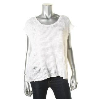 Eileen Fisher Womens KNit Open Back Shawl-Collar Sweater - XL
