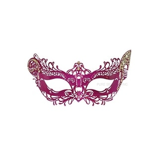 Pure Seasons Winged Angel Venetian Mask (Hot Pink) - Pink