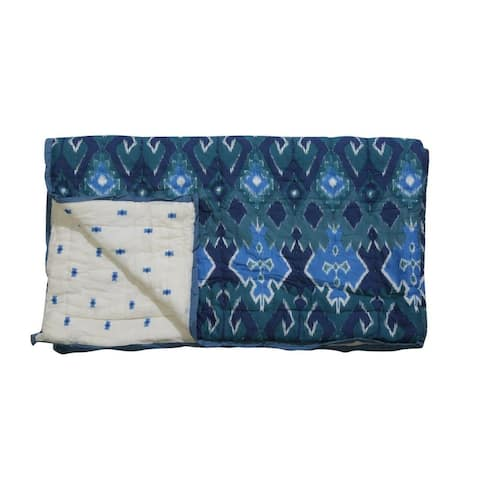 Timbergirl cotton hand printed tribal quilt with 2 shams