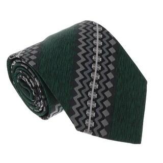 Missoni U4017 Green/ Gray graphic 100% Silk Ties - 60-3