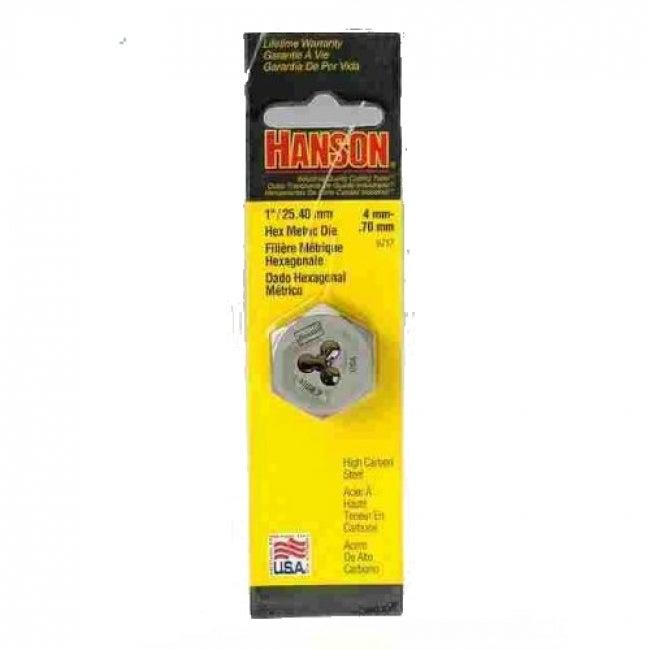 Irwin Tools 9717 Hanson High Carbon Steel Hexagon Metric Die, 4 mm - 0.7