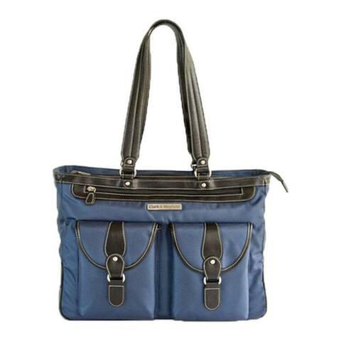 "Clark & Mayfield Women's Marquam Metro Laptop Handbag 18.4"" Navy - US Women's One Size (Size None)"