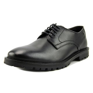 Base London Barrage Men  Round Toe Leather Black Oxford