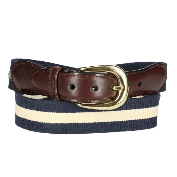 Rogers-Whitley Men's Cotton Elastic Two Tone Stretch Belt
