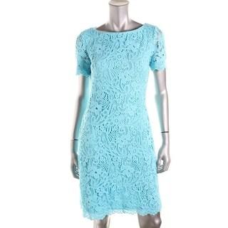 Lauren Ralph Lauren Womens Lace Boat Neck Wear to Work Dress - 6