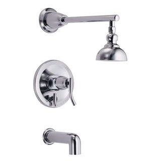 Danze D504054T Sonora Pressure Balanced Tub and Shower Trim Package with Single Function Shower Head (Less Valve)