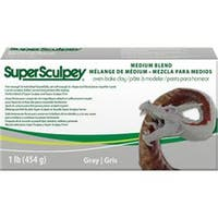 Gray - Super Sculpey Medium Blend Clay 1Lb