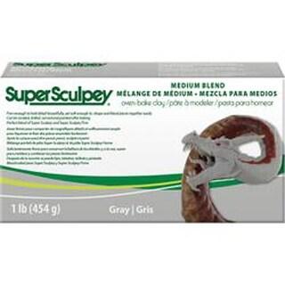 Gray - Super Sculpey Medium Blend Clay 1Lb