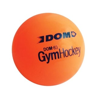 DOM Plastic Gym Hockey Ball for Floor Hockey or Lacrosse, Optic Orange, 3 Inches