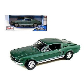1967 Ford Mustang Fastback GTA Green 1/18 Diecast Model Car by Maisto