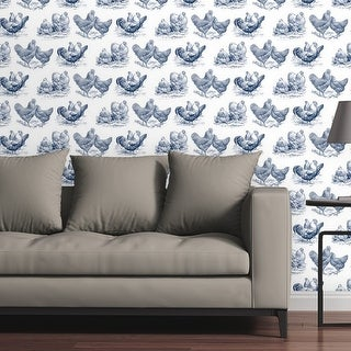 Circle Art Group Removable Wallpaper Tile - Chickens