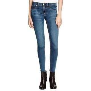Rag & Bone Womens Skinny Jeans Denim Medium Wash