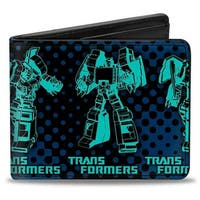 Transformers Grimlock Poses Black Navy Turquoise Bi Fold Wallet - One Size Fits most