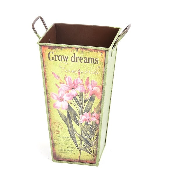 Wedding Party Metal DIY Table Ornament Rose Plant Container Flower Vase Colorful