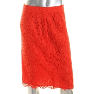 CeCe by Cynthia Steffe Womens Lace Lace Overlay Pencil Skirt - 6