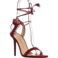 CHAROLOTTE OLYMPIA Salsa Lace Up Sandals, Real Red Suede