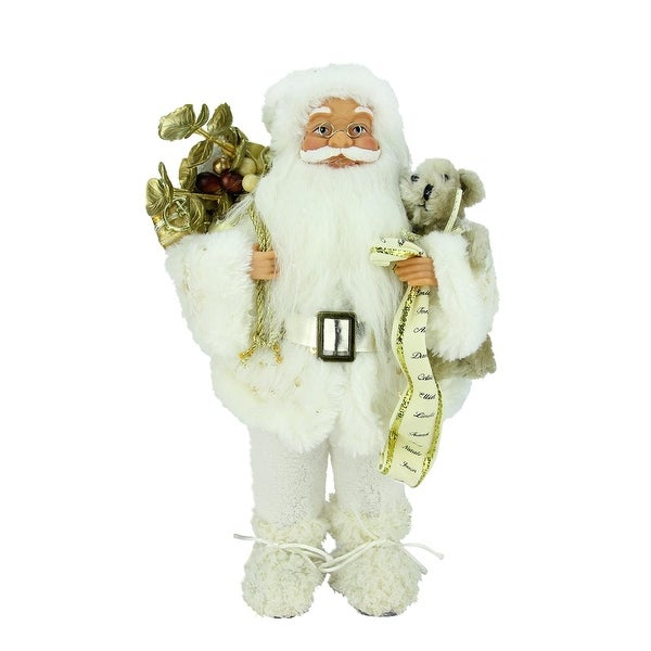 "12"" Winter Wonderland Nordic Santa Claus Christmas Table Top Figure"