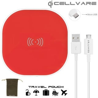 Cellvare Universal Qi Wireless Charging Pad for Qi Devices as Samsung, iPhone X, LG, Motorola Includes Travel Pouch