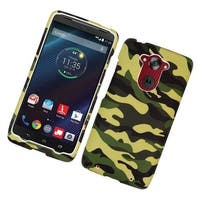 Insten Camouflage Hard Snap-on Rubberized Matte Case Cover For Motorola Droid Turbo