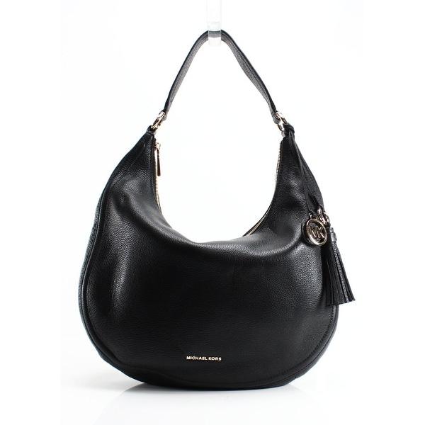 Top Handle Handbag, Lydia, Black, Leather, 2017, one size Michael Kors