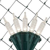 Wintergreen Lighting 72492 100 Bulb 4Ft x 6 Ft LED Decorative Holiday Net Light