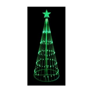 6' Green LED Lighted Show Cone Christmas Tree Outdoor Decoration