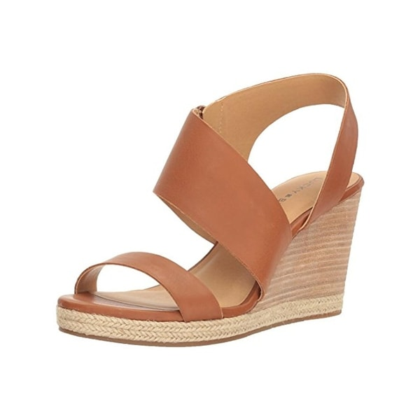 Lucky Brand Womens Lowden Wedge Sandals Open Toe Asymmetrical